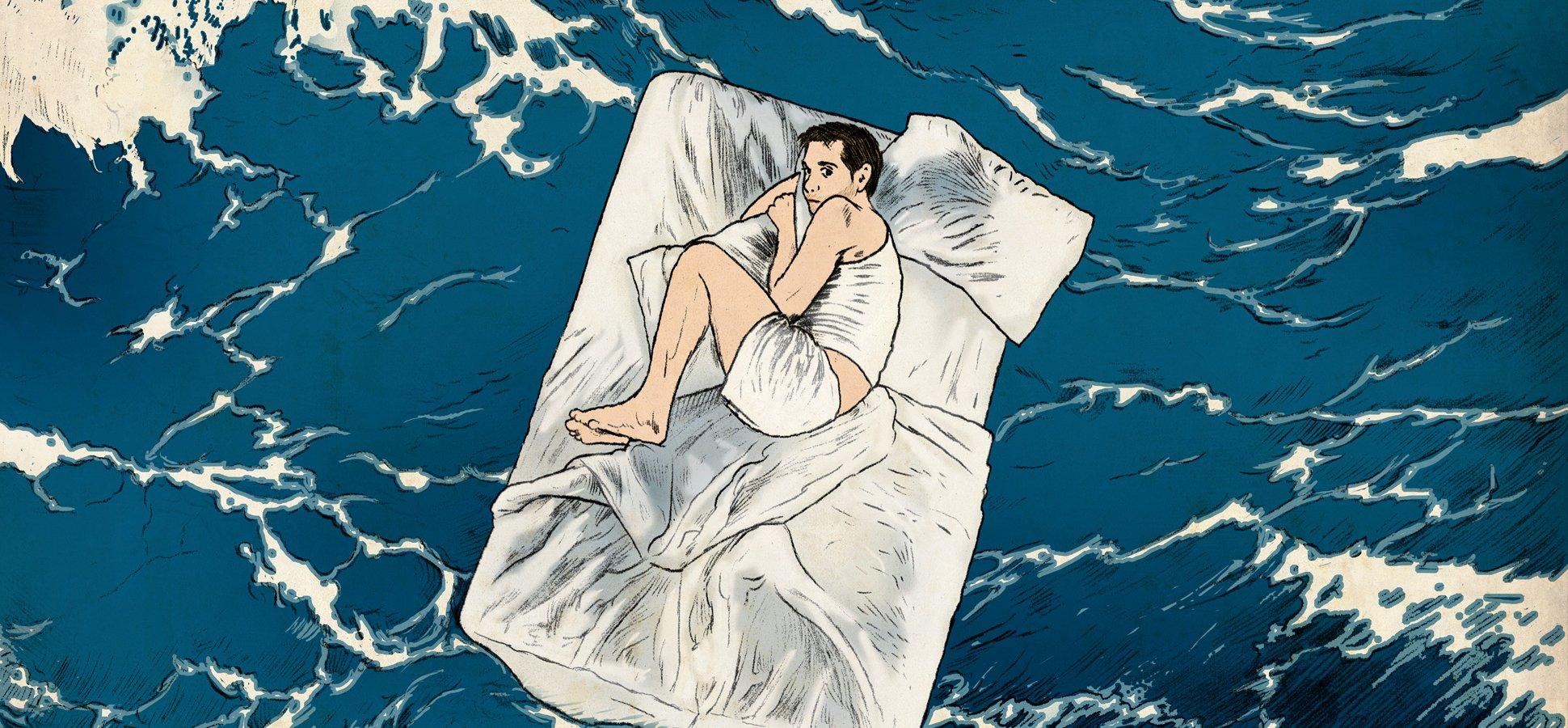 lit sur océan
